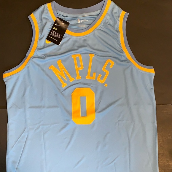 new product b2224 ffb80 Kyle Kuzma Los Angeles Lakers MPLS Jersey #0 NWT